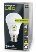 Dusk to dawn light bulbs |Sensor Lamp| LED 40-60W Equivalent | INTEGRAL LED